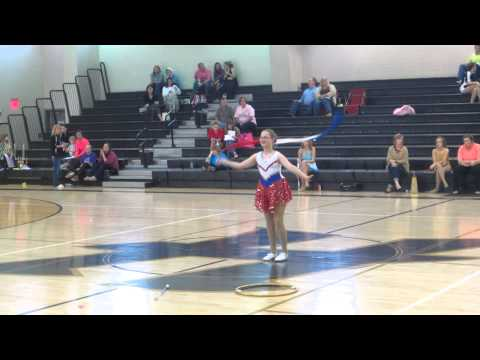 Pickens Academy Majorettes - Katie's 2013 NBTA State Championship Routine, March 9, 2013