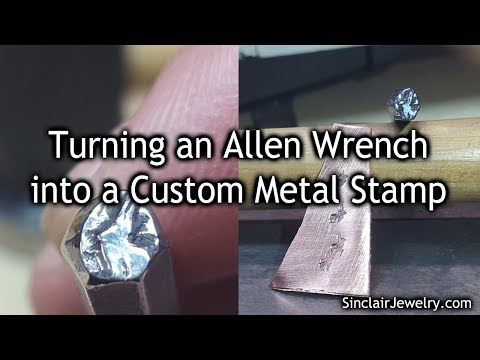 Upcycling an Allen Wrench into a Metal Stamp - Time Lapse