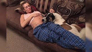 Köpeğin sikini yalayan kadın