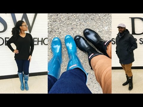 $26 Dollar Hunter Boots  & How to Style them - LOOKBOOK