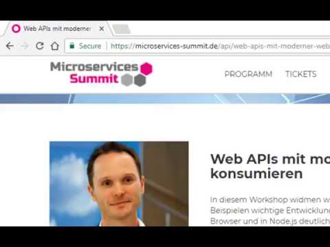 Recording API-Summit 2017: Web APIs mit moderner Web-Technol