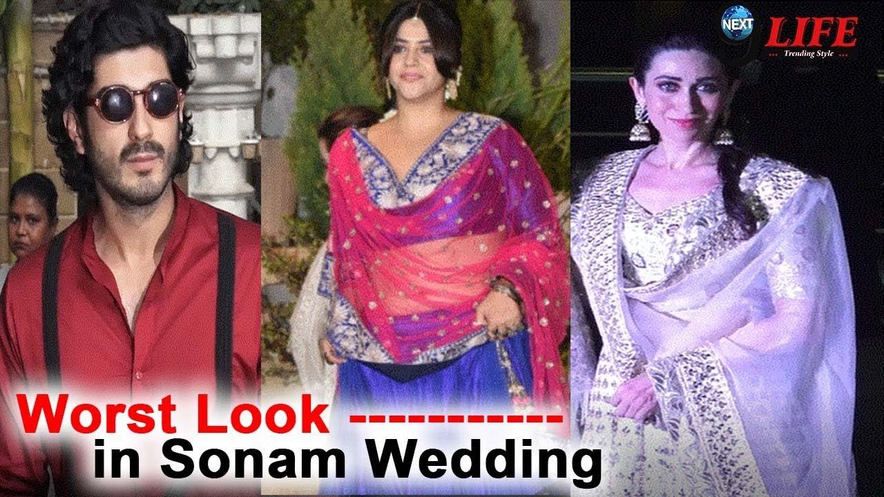 Sonam Wedding: Worst Look of Guest In Sonam Reception... | Fashion ...