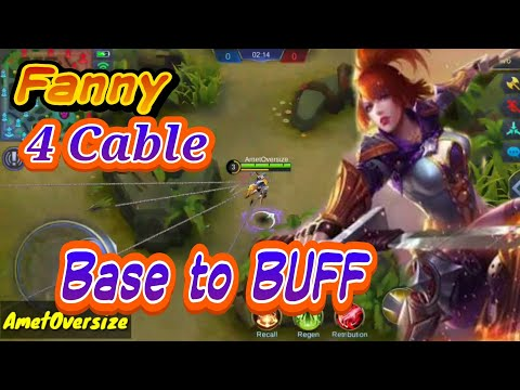 TutoriaL Fanny 4 Cable, BASE to Blue Buff !! Mobile Legends .