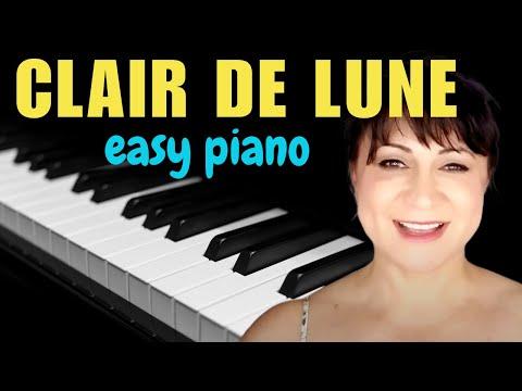 Clair de Lune Easy Piano Version/Sheet Music