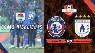 Arema FC (3) vs (1) Persipura Jayapura - Goals Highlights | Shopee Liga 1