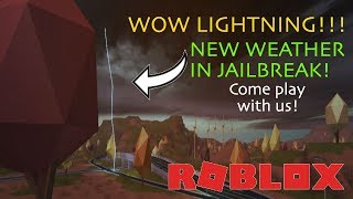 LIGHTNING!!! NEW WEATHER UPDATE RELEASING TONIGHT! 💜 Come play with us! 💜 ROBLOX Jailbreak HYPE