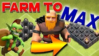 Clash of Clans: FARM to MAX Dark Farming, Let's Spend MILLIONS on Walls!