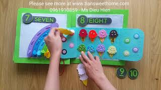 NUMBER QUIETBOOK TO LEARNING QUANTITIES FROM 1 TO 10