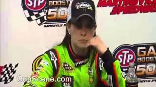NASCAR at Martinsville Apr. 2013: Sprint Cup Post race Danica Patrick, Clint Bowyer, Jeff Gordon