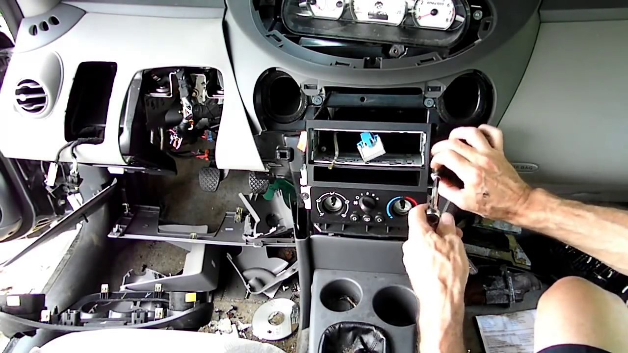 saturn ion heater air conditioning control removal [ 1280 x 720 Pixel ]