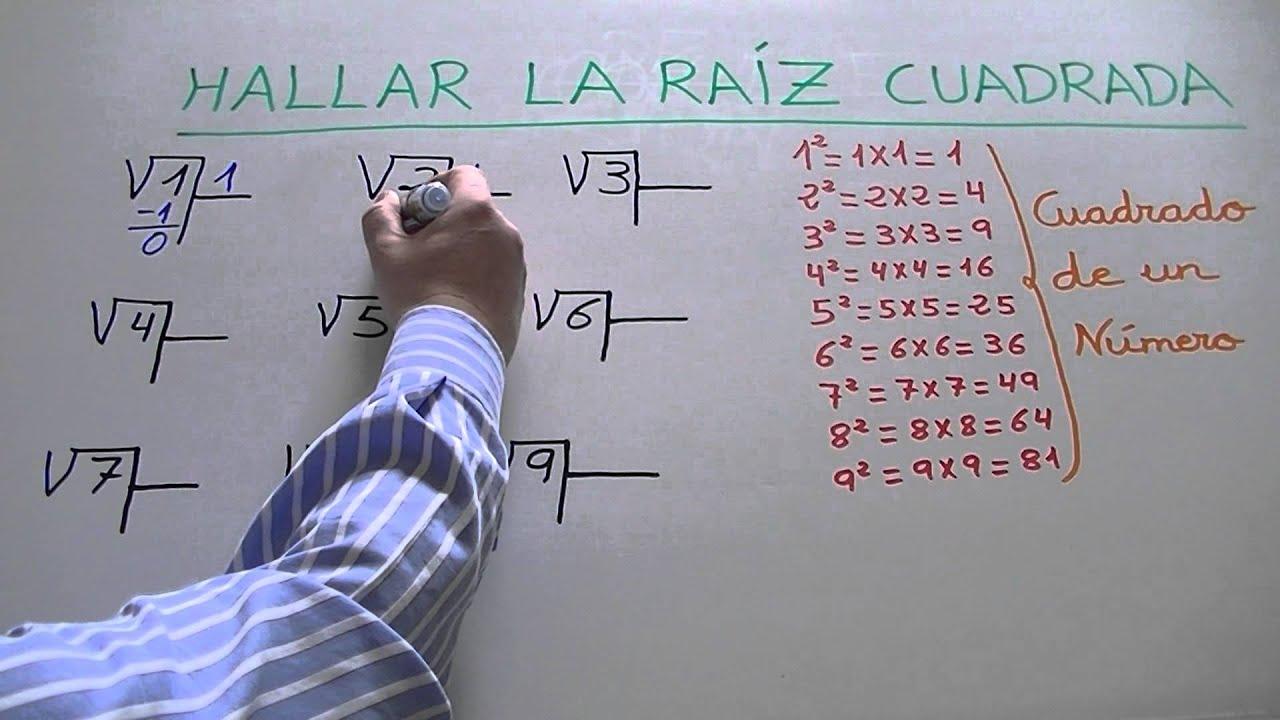Sacar la raíz cuadrada de un número de 1 cifra - YouTube