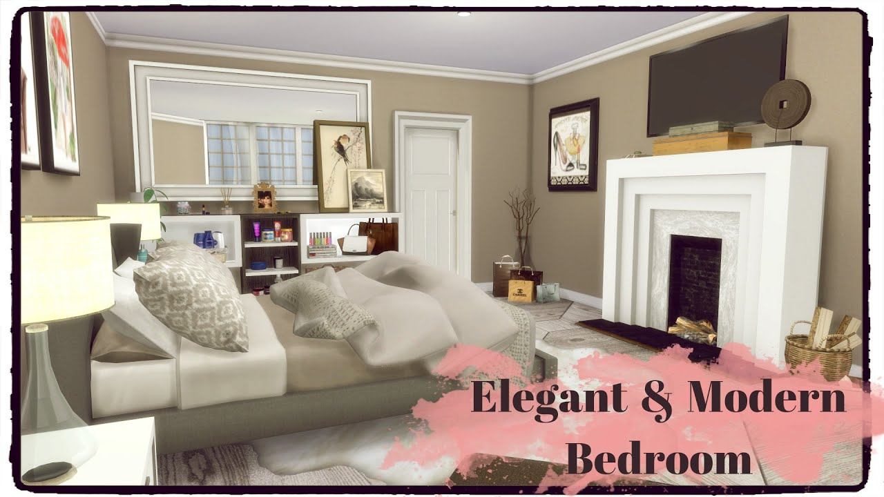 Sims 4 elegant modern bedroom youtube for Bedroom designs sims 4