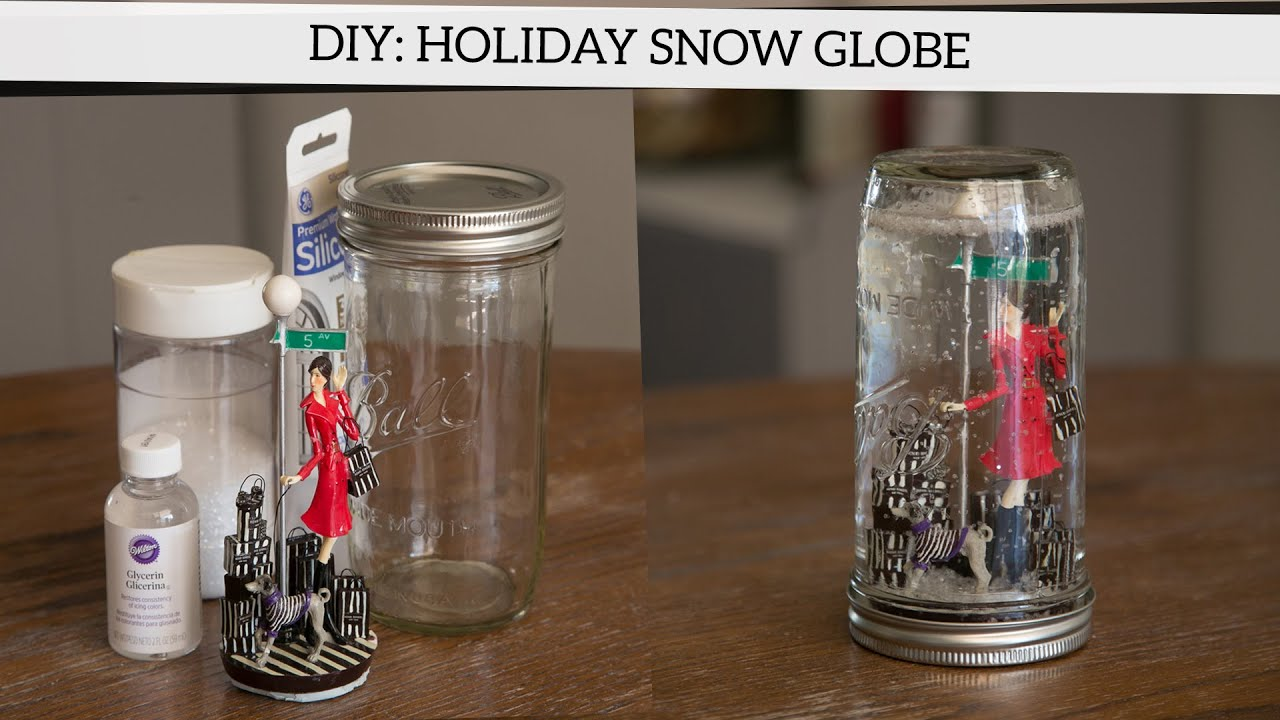 Holiday diy how to make a snow globe youtube for Diy pictures