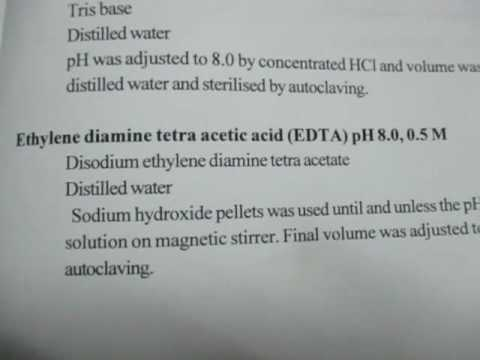 How to prepare 50 mM EDTA for DNA extraction by CTAB method