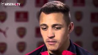 Alexis Sanchez gives his take on Arsenal's title charge in his first ever interview in English