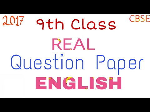 Cbse periodic test 1 sample papers english class 9 youtube.