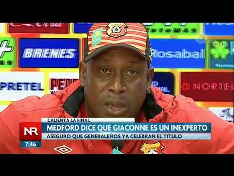 Medford declara que Giaconne es un inexperto
