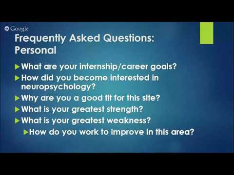 NEUROPSYCHOLOGY INTERNSHIP APPLICATION PROCESS
