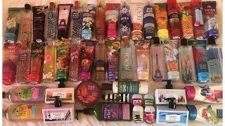 HUGE BATH AND BODY WORKS COLLECTION  (2017)