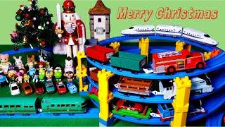 토미카 프라레일 토마스 기차 크리스마스 파티에 장난감들…