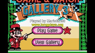 Game & Watch Gallery 3 (GBC) - 50 Stars Longplay