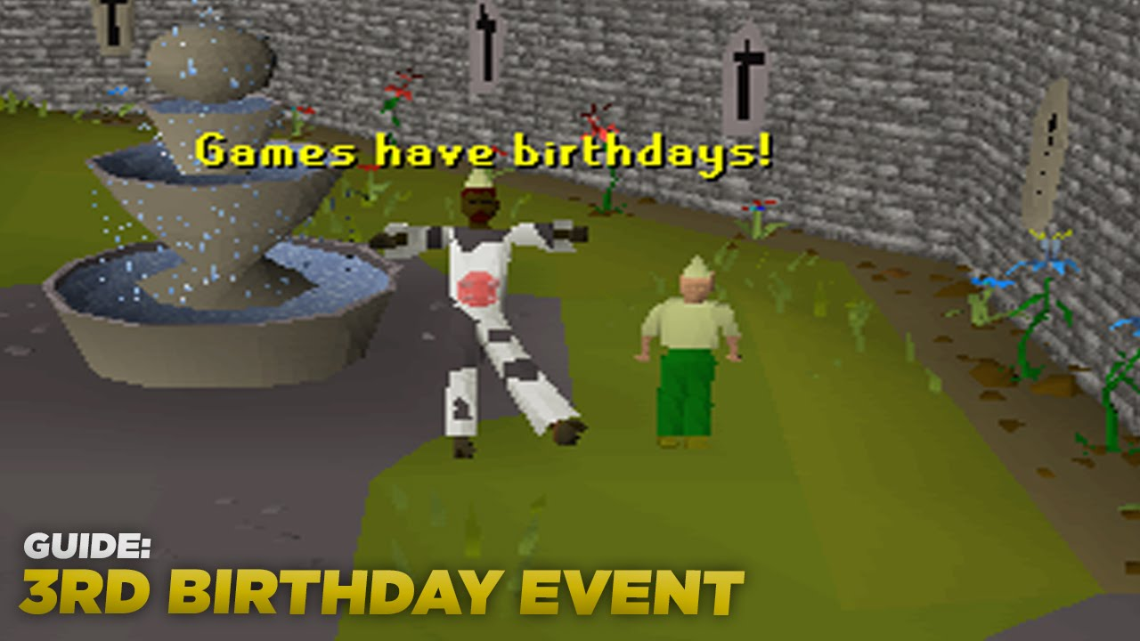 OSRS Gnome Child Event Guide / 3rd Birthday Event - LXL