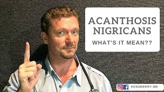 Acanthosis Nigricans is a kind of skin manifestation as thick rough skin patches especially when the.
