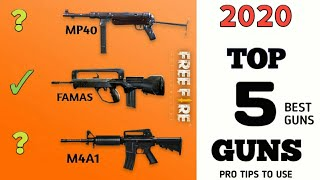 2019 Top 5 Guns  / Pro Tips To Use / Free Fire