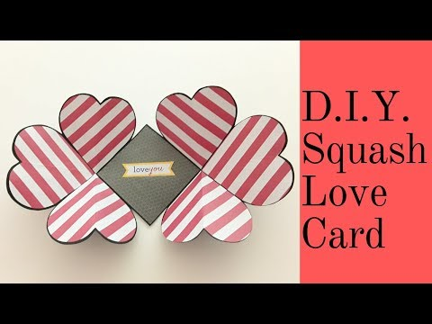 D.I.Y. Squash Love Card / Valentine's Day Craft Idea/Easy Card Making