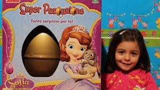 Uovo sorpresa gigante Sofia la principessa Super Pasqualone giochi preziosi disney junior