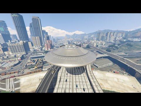 GTA 5 Mods #25 - Người ngoài hành tinh trở lại với UFO hủy diệt