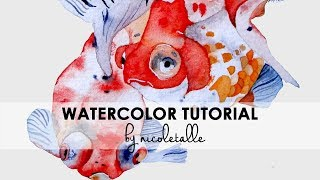 [Tutorial] How to Paint a Goldfish with Watercolor