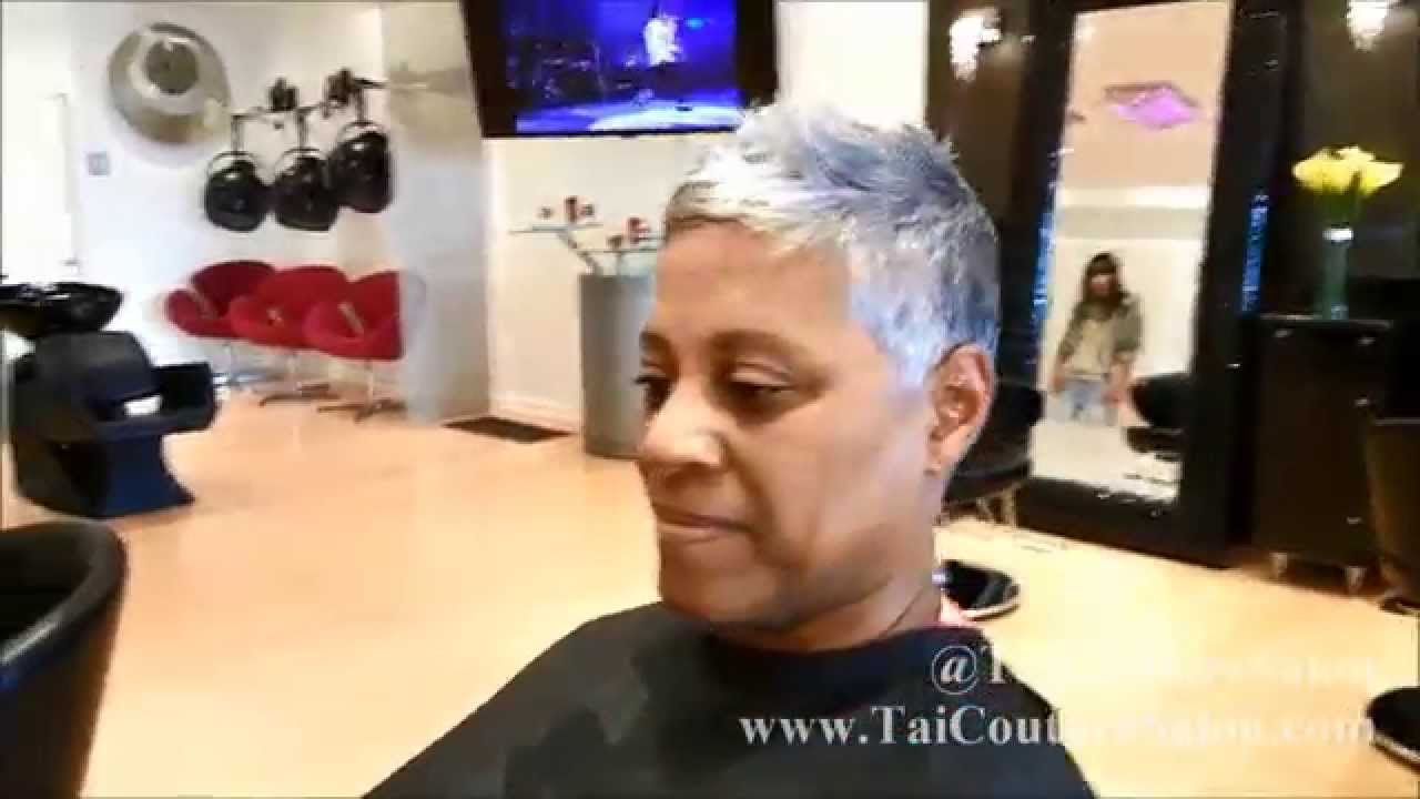 Gray Hair Pixie Cut Haircut Short Hair Youtube