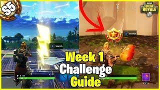 Risky Reels Treasure Map + Search Floating Lightning Bolts   S5 Week 1 Challenge Guide - Fortnite