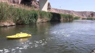 Oceanscience Q-Boat 1800P Compared to Cableway SonTek M9 Hydroboard with the USGS