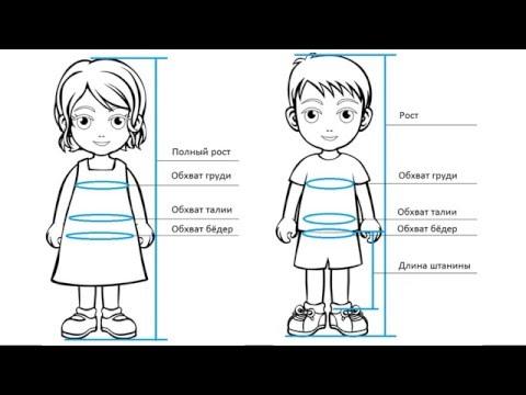 Размеры одежды для подростков