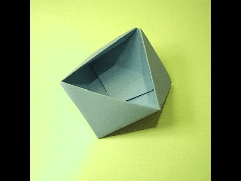 how to make a triangle origami