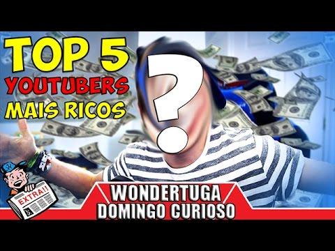 QUEM É O YOUTUBER MAIS RICO DO MUNDO? | TOP 5 Youtubers mais ricos | Domingo Curioso #3