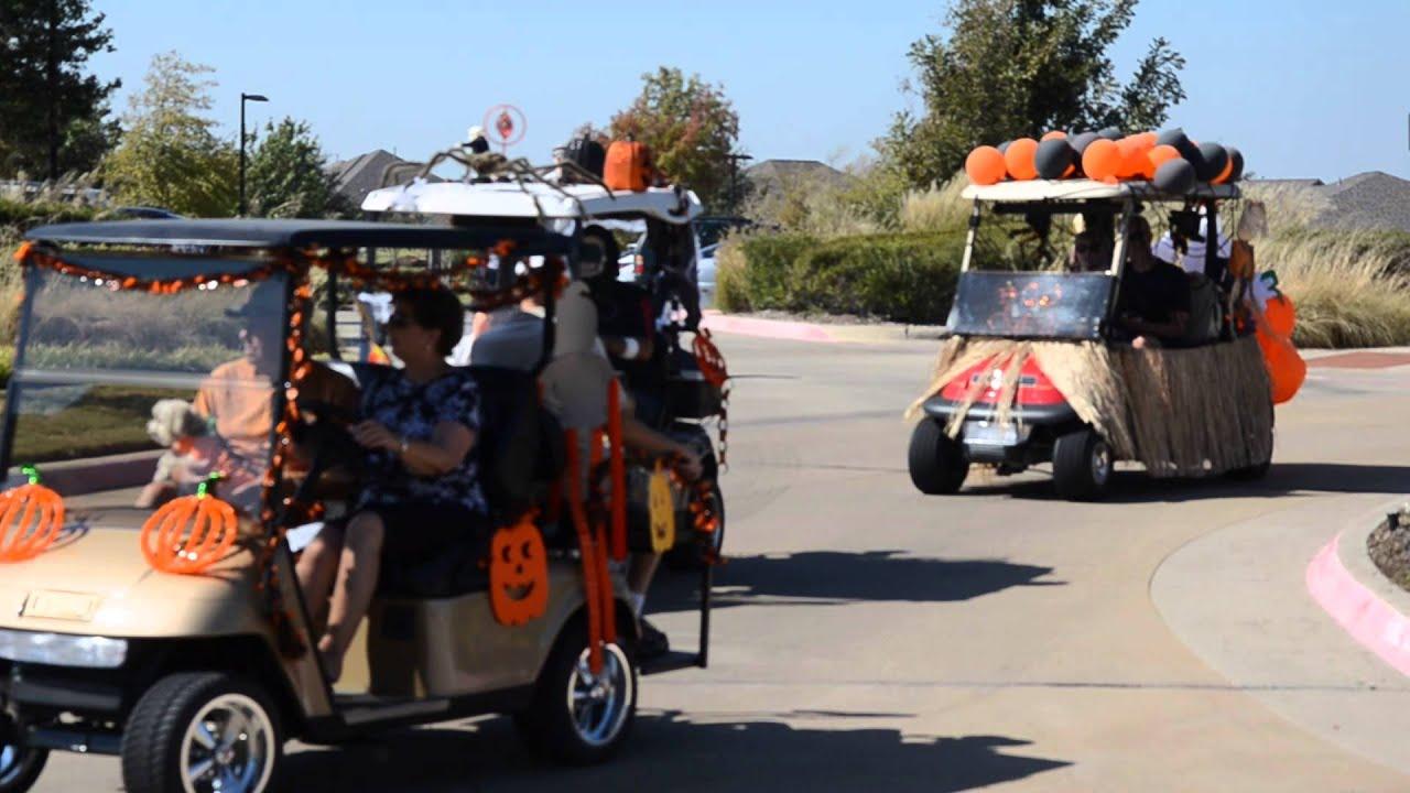frisco lakes halloween golf cart parade 2014 video