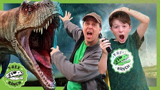 Dinosaur Tornado Escape Adventure! T-rex Ranch Videos for Kids