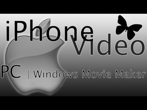 How To Use/edit IPhone Videos On PC|Windows Movie Maker