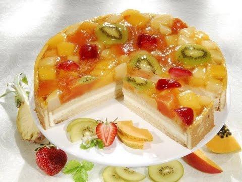 как приготовить лёгкий фруктовый торот