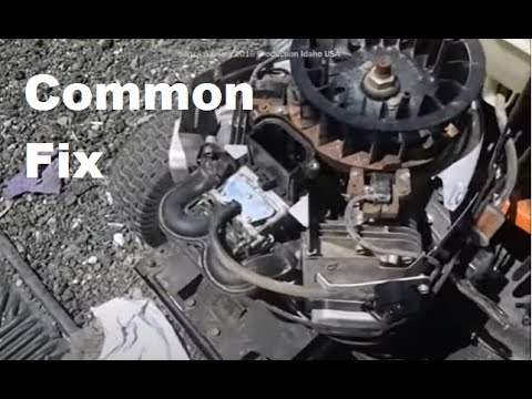 Briggs And Stratton Engine Surging Stalling Backfiring Fix Parts Used Below Youtube