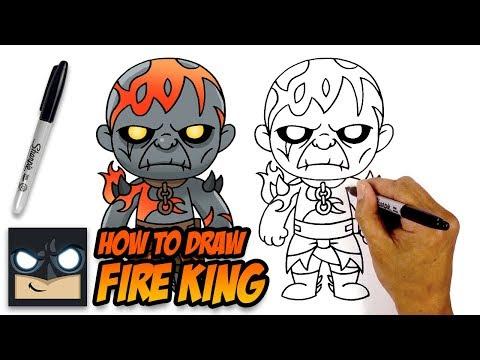 How to Draw Prisoner Fire King | Fortnite