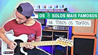 OS 10 SOLOS DE GUITARRA MAIS FAMOSOS DE TODOS OS TEMPOS ( 10 Best Guitar solos of all times )