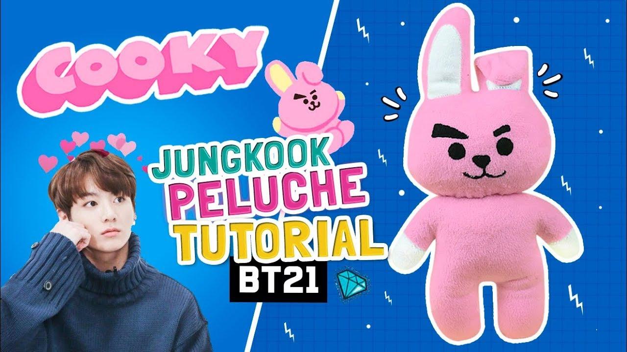 DIY BTS ☆ Como hacer el PELUCHE de COOKY de BT21 (JungKook
