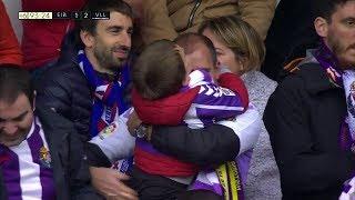 Remontada del Valladolid en Ipurua con abrazo de un padre a su hijo | Eibar 1 Valladolid 2