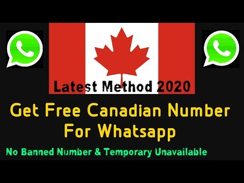 Get Free Number For Whatsapp, Canada, Us/Uk, Brazil, Virtual Numbers | Fix Whatsapp Banned Number!