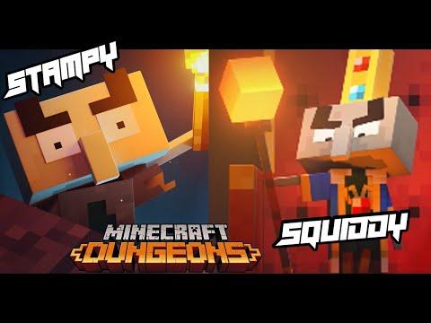 SQUIDDY (PRO) & STAMPY (NOOB) Plays Minecraft Dungeons!!