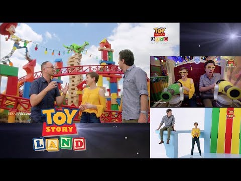 Toy Story Land special look featuring Eden Sher (The Middle) and Zach Braff (Alex, Inc.)